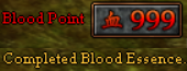 999 Blood Points - Completed Blood Essence