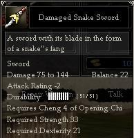 Damaged Snake Sword