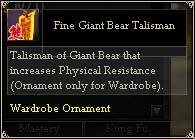 Fine Giant Bear Talisman