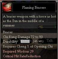 Flaming Bracers