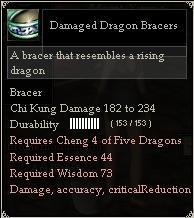 Damaged Dragon Bracers