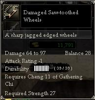 Damaged Saw-toothed Wheels