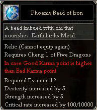 Phoenix Bead of Iron