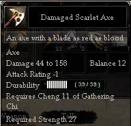 Damaged Scarlet Axe
