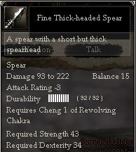 Fine Thick-headed Spear