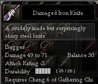Damaged Iron Knife