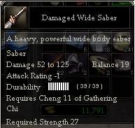 Damaged Wide Saber