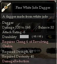 Fine White Jade Dagger