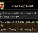 Nine Yang Tablet