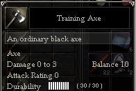 Training Axe