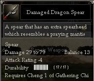 Damaged Dragon Spear