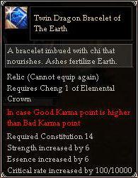 Twin Dragon Bracelet of The Earth