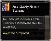 Fine Ghastly Flower Talisman