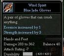 Wind Spirit Blue Jade Gloves