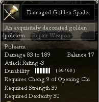 Damaged Golden Spade