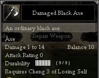 Damaged Black Axe