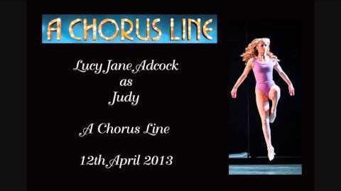 Lucy Jane Adcock as Judy (Little Brat onwards till Greg's part) - A Chorus Line