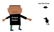 Richard Stacker and Joe the Crow