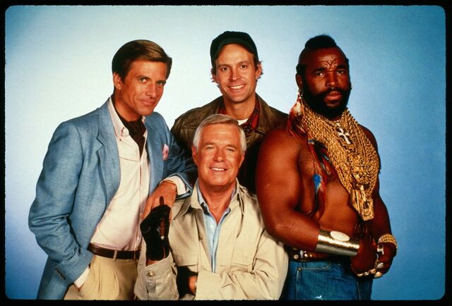 File:The-a-team-the-cast-mr-t-george-peppard-dwight-schultz-dirk-bendict.jpg