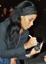 Aaliyah signing in 2000
