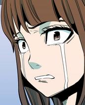 Sujin crying