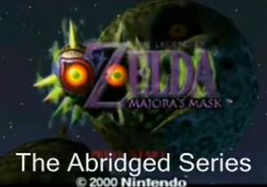 Majora's Mask (adamwestlapdog) Abridged title block