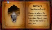 Dimere vanishing spell