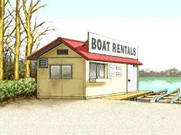 Boat rental shop