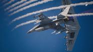 F-16C Arsenal Bird Flyby