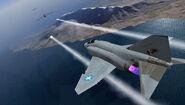 F-4E attacking B-52