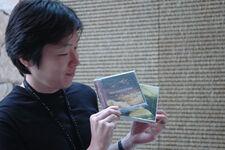 Kobayashi posing with ZERO OST