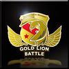 Gold Lion Battle Emblem Icon