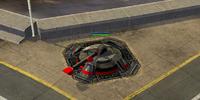 Railgun turret emergency backup