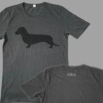 Dog dark grey t-shirt