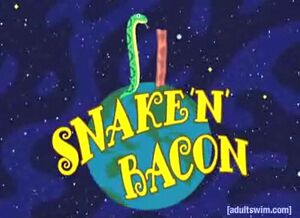 Snake N Bacon title screen