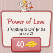 Power of Love Gold Upgrade