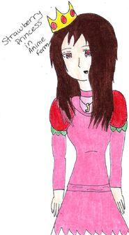Strawberry princess anime form by askstrawberryprncss-d4i69l4
