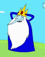 Ice King, wearing his tunic, and dancing