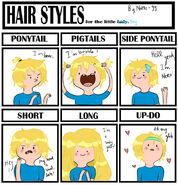 Hair style meme finn the human by natto 99-d55rd64