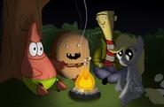 157881 - Adventure Time artist-manateemckenzie campfire Cinnamon bun crossover derpy hooves Ed Ed, Edd n Eddy marshmallows patrick star spongebob Squarepants