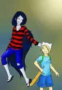 Finn and marceline by ryouku mirazaki-d32irkn