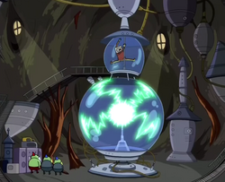 S2e7 finn charging up plasma ball
