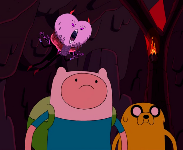 File:Hunsun Abadeer meets Finn and Jake.png