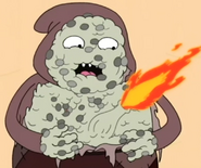 Townsperson with fire belly