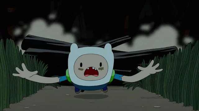 File:S4 E23 Finn almost getting assaulted by a wooden log.png