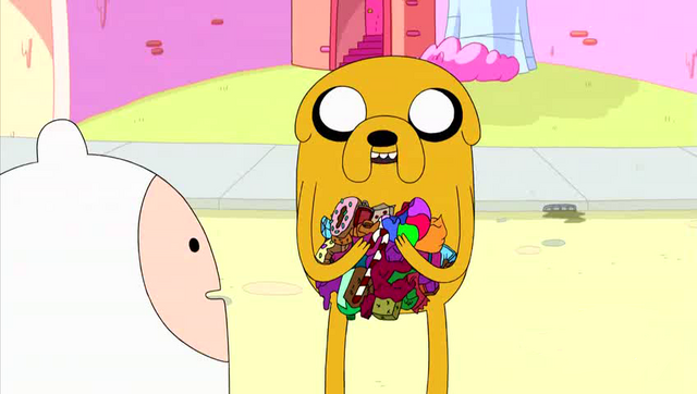 File:S4e8 Jake with candy litter.png