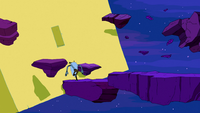 S5 e1 The Lich as Billy running through space on rocks