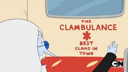 S5e14 Simon reading the back of the Clambulance