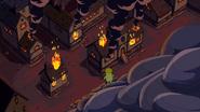 S5e50 burning village