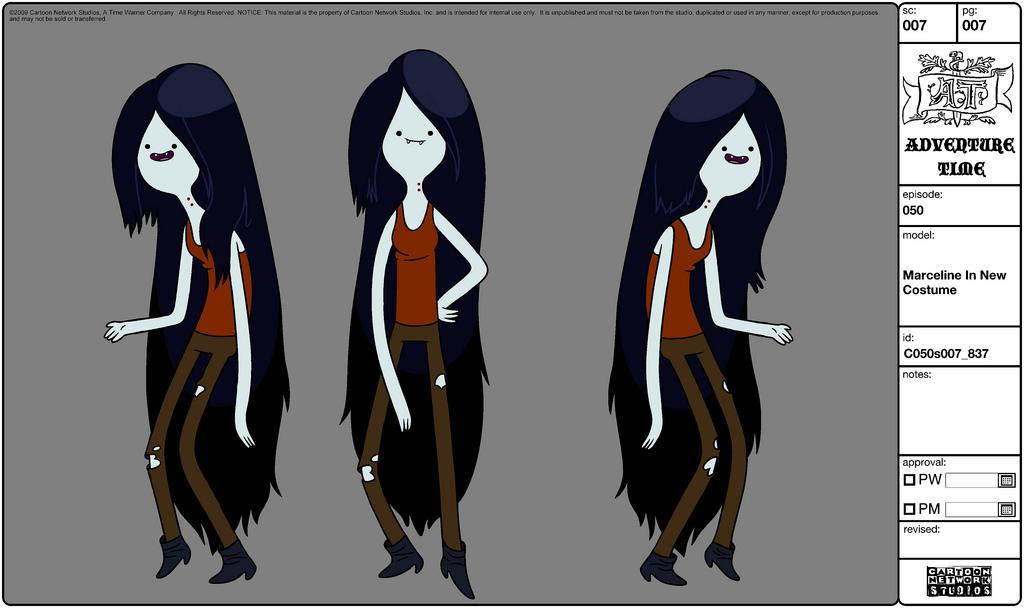 Character Design Adventure Time : Image modelsheet marceline innewcostume g adventure